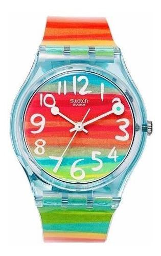 Imagen 1 de 6 de Reloj Swatch Color The Sky Gs124 | Original Envío Gratis