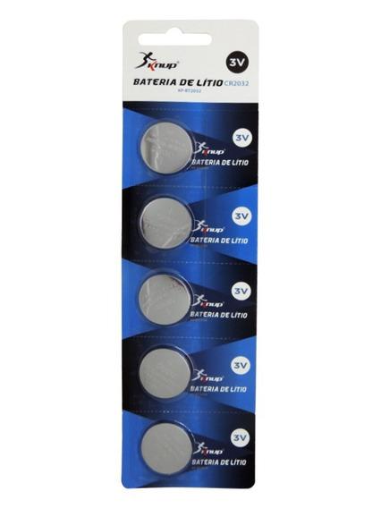 Bateria Botão Pilha De Litio Bt2032 (cartela Com 5 Unidades)