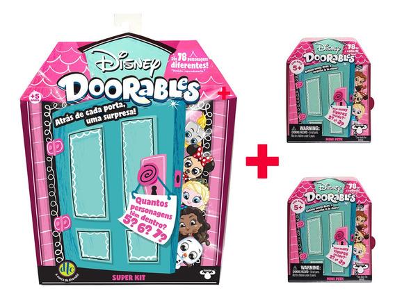 Disney Doorables 1 Super Kit Surpresa + 2 Mini Kit Surpresa