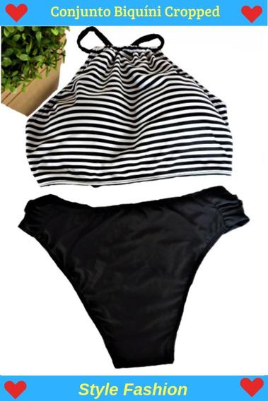 Conjunto Biquíni Top Cropped Moda Praia - Confira!