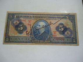 Cédula De 5 Cruzeiros De 1942 C002 Mbc/sob Rosácea
