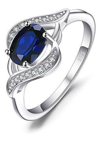 Jewelrypalace - Anillo De Plata De Ley 925 Con Zafiro Azul