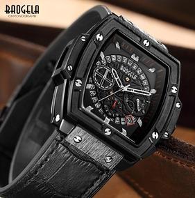 Relógio Masculino Quadrado Baogela Cronógrafo Estilo Cronos
