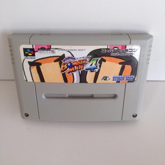 Cartucho Super Bomberman 4 Original - Super Nintendo - Snes