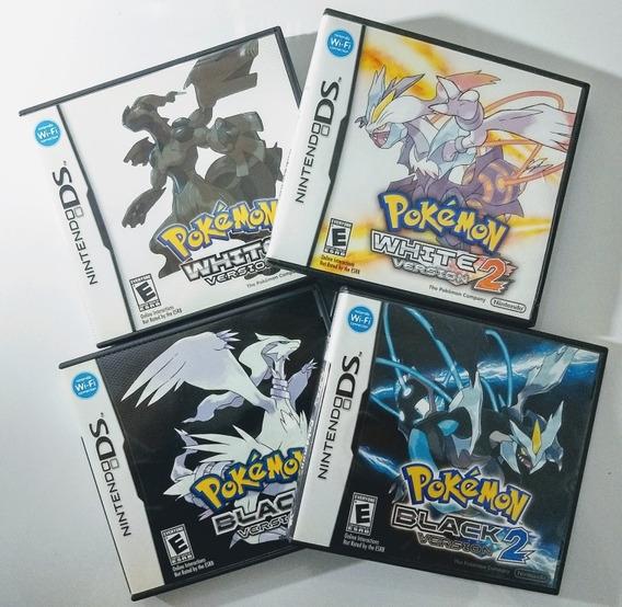 Pokemons Black 1 E 2 + White 1 E 2 - Ds / 3ds - Impecáveis