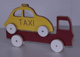 Brinquedo Educativo Caminhão Guincho Madeira Colorido Mdf...