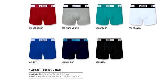 Cueca Boxer Cotton Puma Original Kit C/ 6 Pçs Superpromoção