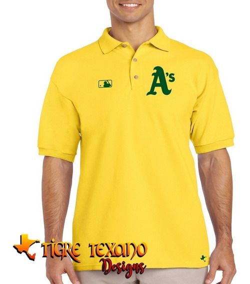 Playera Polo Atléticos Oakland Baseball Tigre Texano Designs