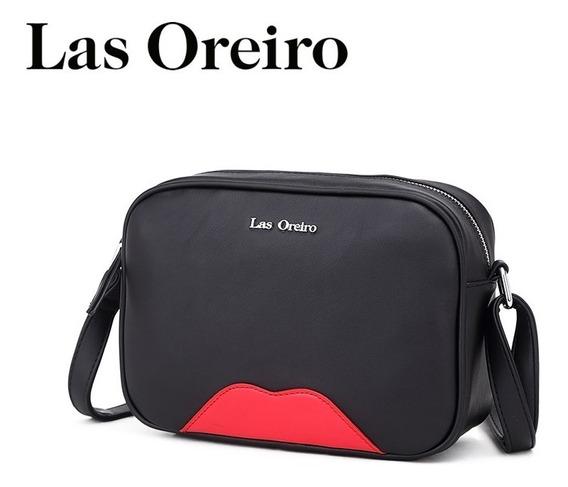 Cartera Morral Bandolera Las Oreiro Original 100% Cuero Pu