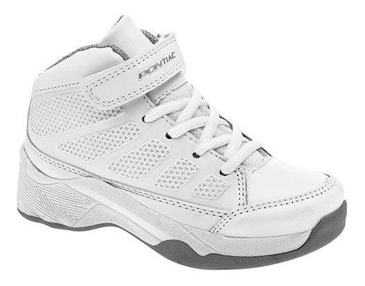 Pontiac Sneaker Casual Escolar Mujer Blanco Bota N77698 Udt