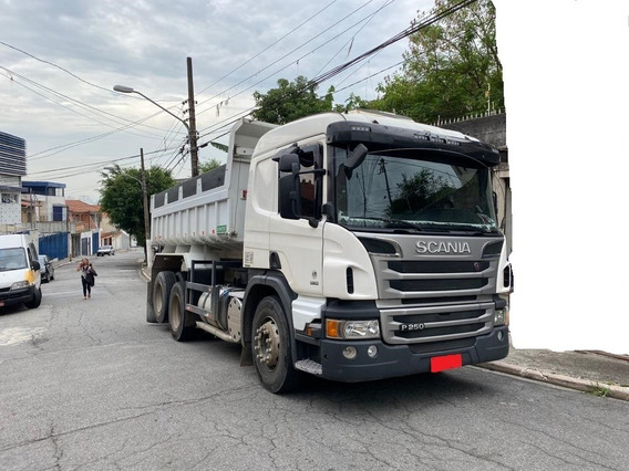 Scania P250 B 6x2 2013 Cacamba Cambio Manual