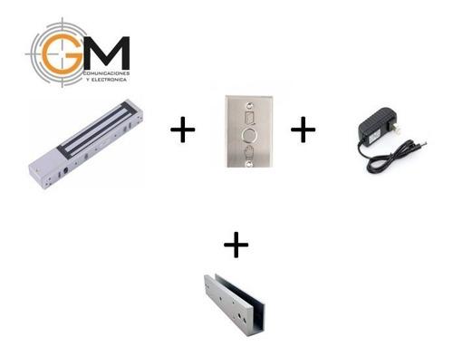 Kit Electroiman + Boton  Salida + Fuente + Soporte U Vidrio
