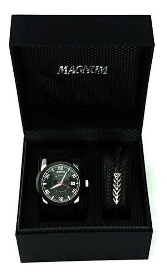 Relógio Magnum Kit Masculino Com Pulseira Ma34914c