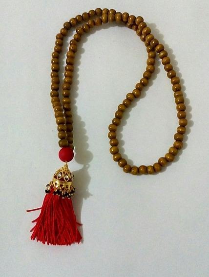 Japamala Indiana 108 Contas Deusa Durga Jumka Banhado Ouro
