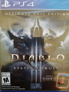 Diablo 3 Iii Reaper Of Souls Ultimate Evil Edition Ps4