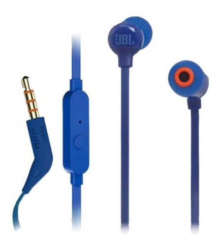 Auriculares Jbl Tune110 Azul Con Micrófono        Zonatecno