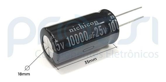 Capacitor Eletrolítico 10.000uf/25v - 105°c