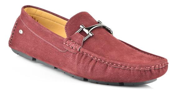 Zapato Tipo Mocasín Para Hombre Lob Footwear 524-9500 Rojo Nuevo Oi19