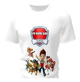 Camiseta Camisa Blusa Personalizada Patrulha Canina Infantil