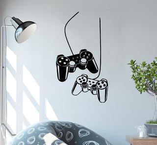 Adesivo De Parede - Controles Ps2 Ps3 Video Game Jogos