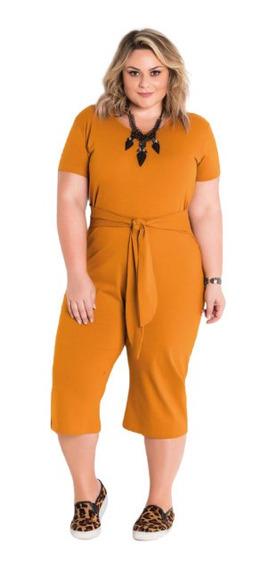 Macacão Plus Size Pantacour Feminino Tamanhos Grande 60 Xxg