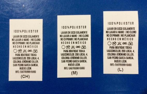 Mil Etiquetas Para Ropa / Etiqueta De Lavado / Con Envío