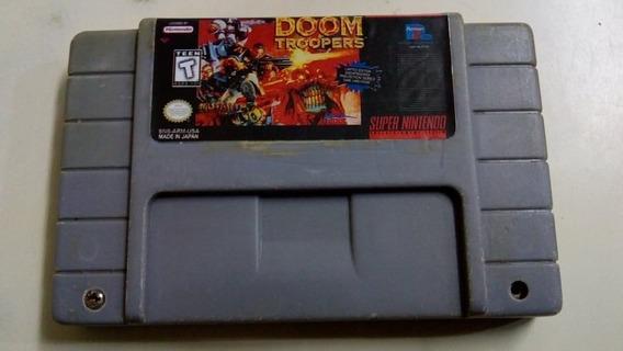 Fita Doom Troopers Jogos Snes Cartucho Super Nintendo Fase