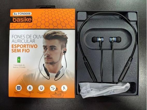 Atacado Kit 05 - Fone Esportivo Bluetooth Basike Ba-fon0008