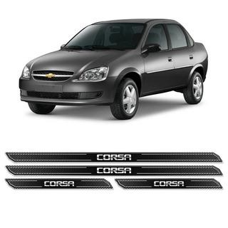Kit Soleira Da Porta Diamante Corsa Hatch E Sedan Resinada