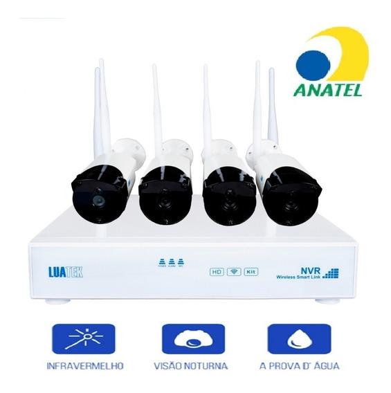 Kit 4 Câmeras Segurança Residencial Externa/interna Nvr Wifi