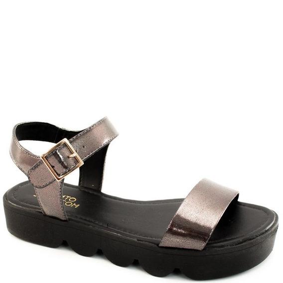 Sandalia Metalizada Sapato Show 11424