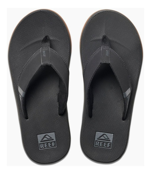 Ojotas Reef Fanning Low Black - Cuotas S/interés Env. Gratis