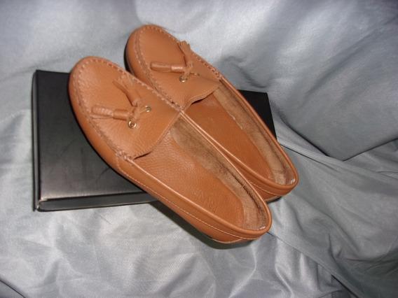 Zapatos Mocasines Cuero Color Suela Nº 37 Mujer