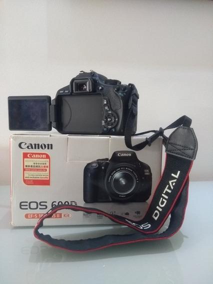 Câmera 600d (t3i) Canon + Lente 18-55
