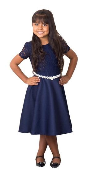 Vestido Infantil Renda Midi Festa Casamento Beatismo