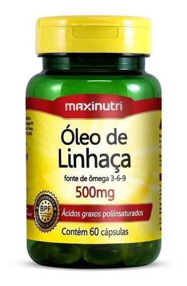Óleo De Linhaça 500mg 60cps Maxinutri