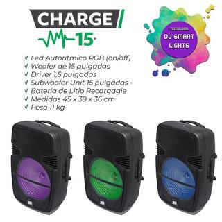 Bafle Potenciado Charge De 15 A Bateria Bluetooth Usb Mic Fm