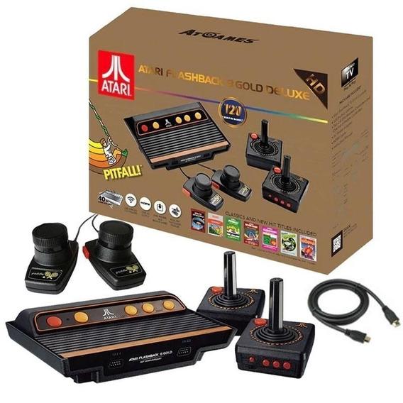 Atari Flashback 8 Gold De Luxe / 4 Controles / 120 Jogos