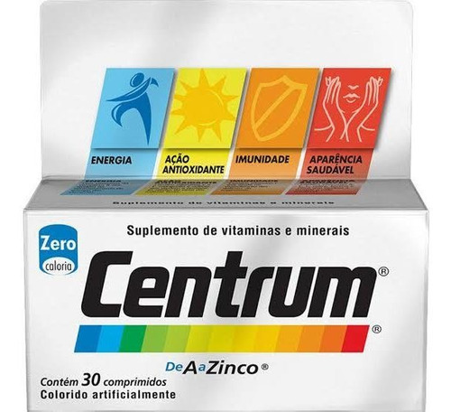 Centrum 30 Comprimidos De A A Zinco