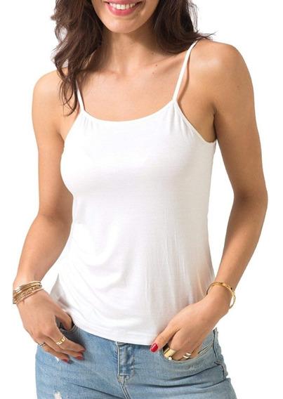 Musculosa De Tiritas Blancas Lisas O De Color Combinadas