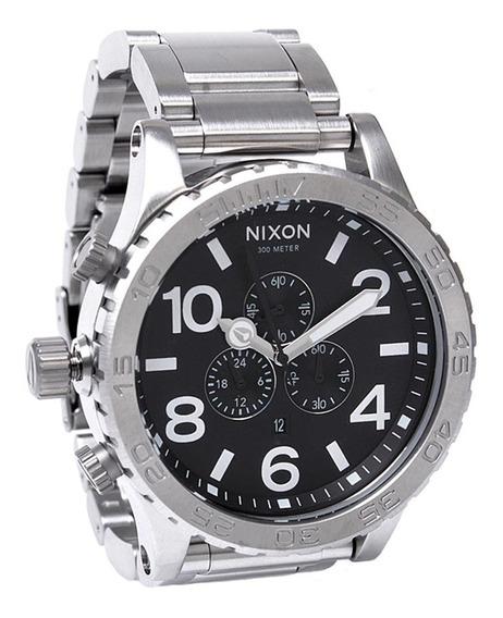 Relogio Mx230 Nixon Prateado Chrono Promocional