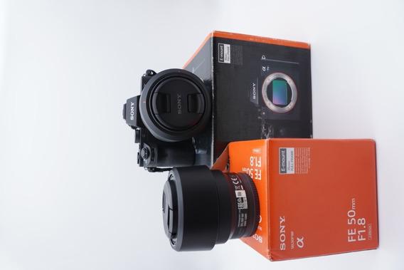 Camera Sony A7 Mark 2 Mirrorless Lente Fe 28-70mm + Fe 50mm