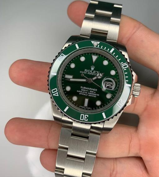 Relógio Rolex Submariner Hulk Aaa+ Vidro Safira