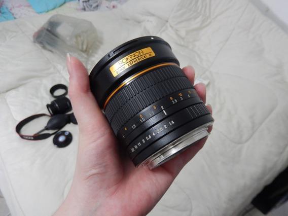 Lente Rokinon 85mm F/1.4 Para Canon Impecável