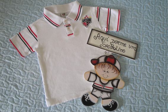 Camiseta Time Spfc* Tamanho 1 Ano* Plaquinha Decorativa*