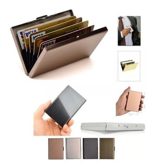 Porta Organizador De Tarjetas De Credito Rfid Protector Slim