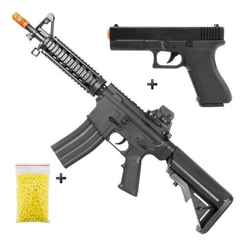 Imagem 1 de 9 de Rifle M4a1 + Pistola Airsoft Vigor V307 +  Esferas 0,12g Loi