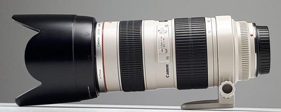Teleobjetiva Bem Cuidada Canon 70-200mm 1:2.8 L Sem Risco