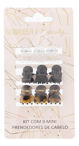 Kit Nove Mini Prendedores De Cabelo Gabriela Beauty Color