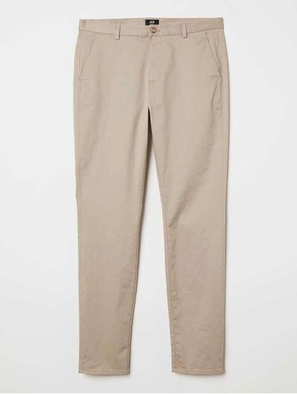 Pantalon Vestir Hombre Beige H&m